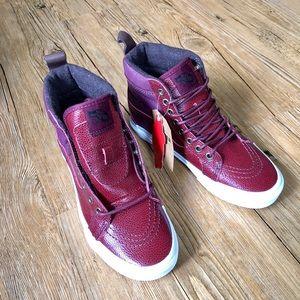 9e3f3c4fa2 Vans Shoes - 🆕 VANS Sk8-Hi 46 MTE Pebble Leather Port Royale